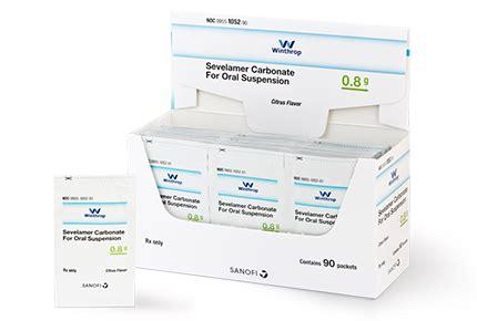 Generic Renvela®, Sevelamer Carbonate Powder Packets 0.8 g ...