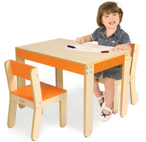 Pkolino Table And Chairs Uk by P Kolino One S Table And Chairs Orange