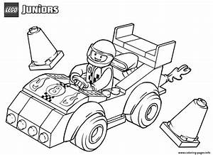 Lego Juniors Race Car Coloring Pages Printable