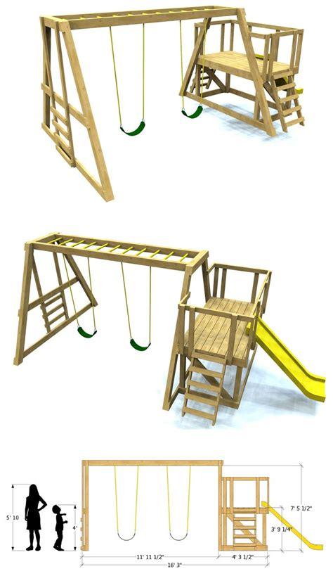 ideas  swing set plans  pinterest wooden