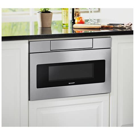 sharp drawer microwave 24 sharp stainless 24 quot microwave drawer oven smd2470as