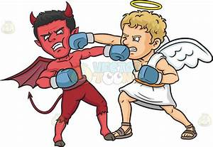 Cartoon Clipart: Good Versus Evil