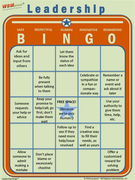 leadership bingo  game based leadership assessment