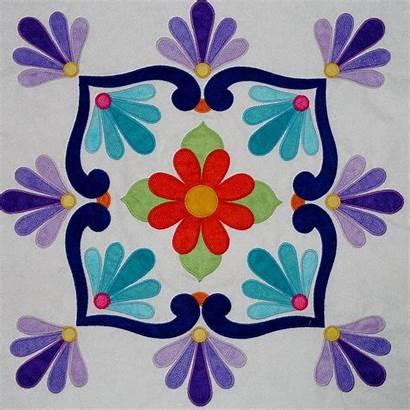 Talavera Applique Quilt Fiesta Mexican Tiles Pattern