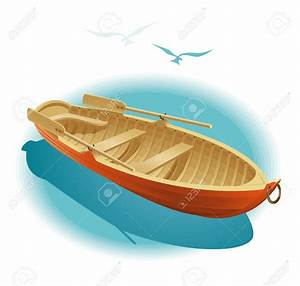 Row Boat clipart dinghy - Pencil and in color row boat ...