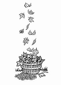 Feuilles D Automne à Imprimer : coloriage astuce pour ramasser les feuilles ~ Nature-et-papiers.com Idées de Décoration