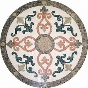 carrelage en marbre de la mosaiquemedaillon modeles de With carrelage sol motif