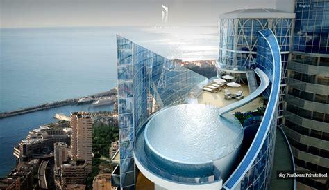 monaco penthouse outdoor rooftop infinity pool  ocean