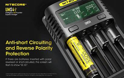 Ums4 Nitecore Charger Chargeur Usb Ion Imr