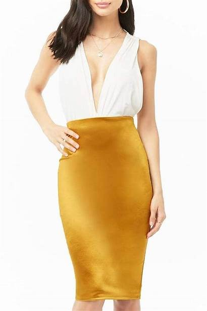 Pencil Satin Skirt Outfit Womensfashions Forever Skirts