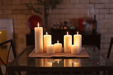 White Candles Decoration Home Interior Design  Desktop