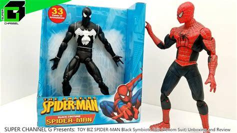 toy biz spider man black symbiote suit unboxing