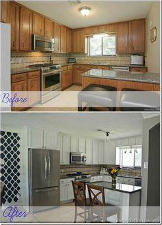 refurbished kitchen cabinets white cabinets oak trim for the home oak 1816