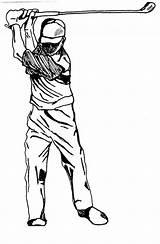Golf Pencil Coloring Adult Dessin Printable Appareil Photographique Drawings Action Parchment Golfeur Photographie Sheets sketch template