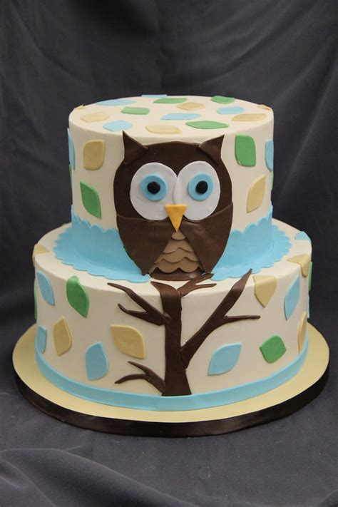 Baby Shower Baby Cake - the right owl baby shower cake