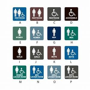 Intersign Standard RestroomLocker Room Signs