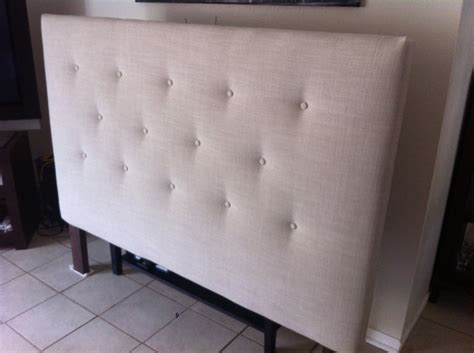 Bedroom Tall White Headboard With Tufted Ornaments Which