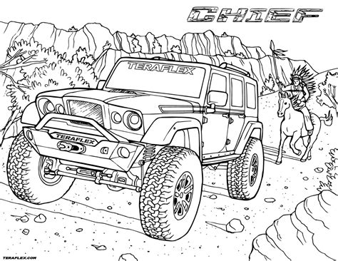 jeep coloring pages bltidm