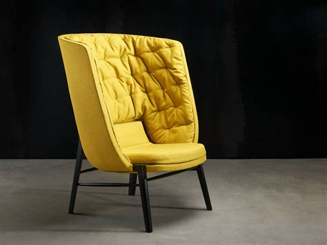 Upholstered High-back Armchair Cleo Cleo Collection By