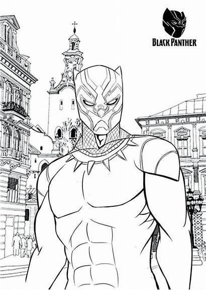 Panther Coloring Marvel Printable Comics Character Tsgos