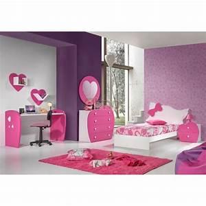 Chambre Complete Fille : chambre compl te fille lit baldaquin love ~ Teatrodelosmanantiales.com Idées de Décoration