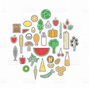 Healthy Food Icons Set stock vector art 467986522   iStock