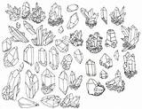 Crystal Crystals Illustration Geode Drawing Drawings Tattoos Google Tattoo Flash These Need Tumblr Draw Line Gem Doodle Info Designs Rock sketch template
