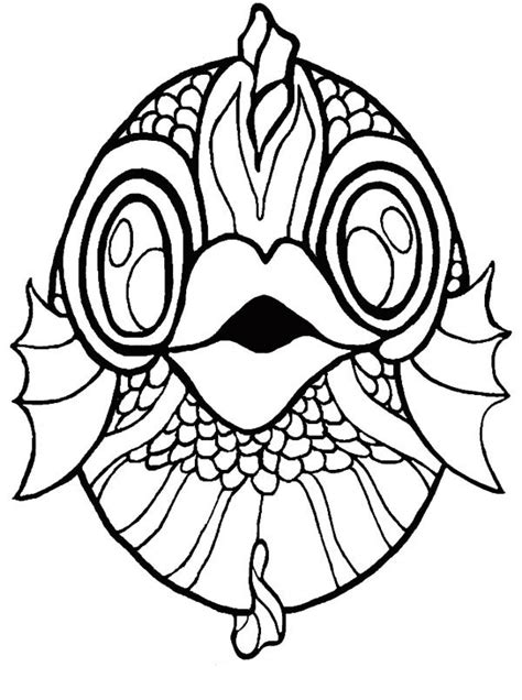 koi fish mask coloring page coloring sky