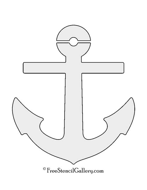 anchor template boat anchor stencil free stencil gallery
