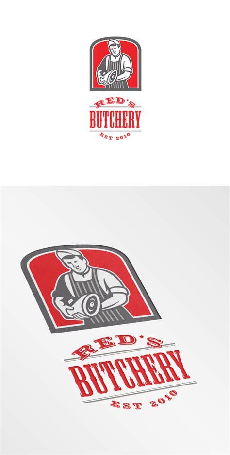 butcher template joomla red s butchery logo logo templates on creative market