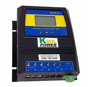 Dual Power Automatic Transfer Switch With Lcd Display