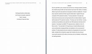 using apa style With apa abstract page template