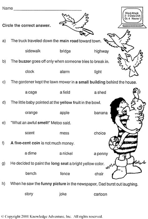 english tests  kids worksheets images frompo
