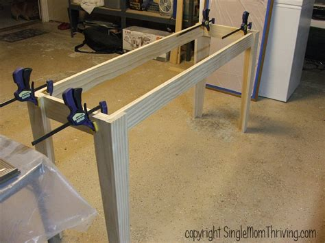 how to attach table top to legs table single mom thriving