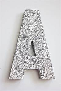 8 glitter letter glittered silver free standing custom With silver letters freestanding