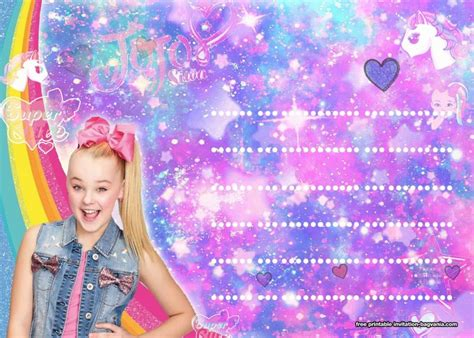jojo siwa invitation templates bagvania