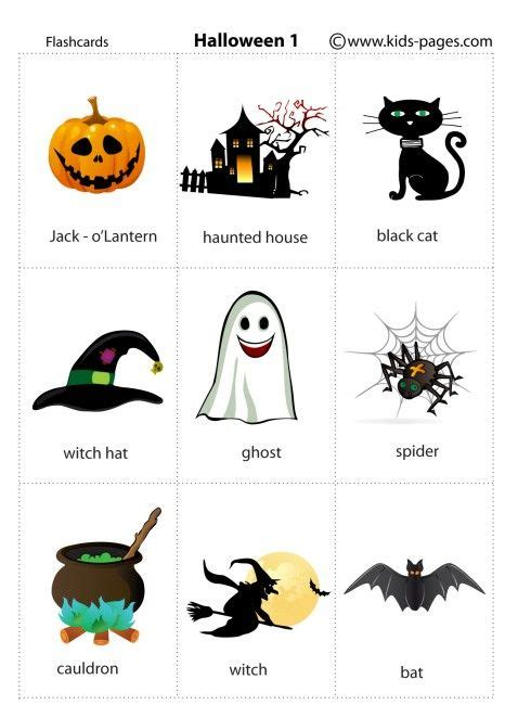 Kids Pages  Halloween 1  English  Pinterest  Flashcard, English And Learning English
