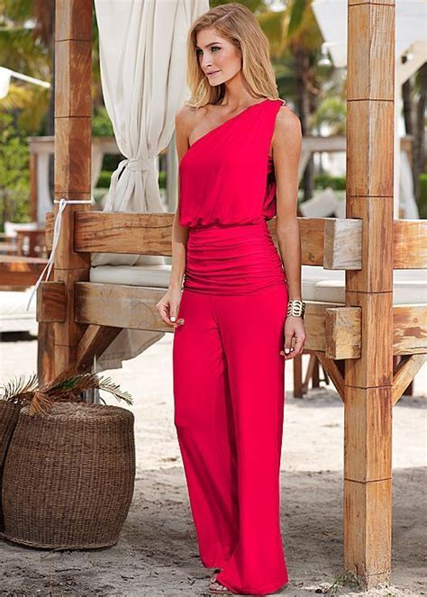 One shoulder drape jumpsuit   The Style of G   Pinterest