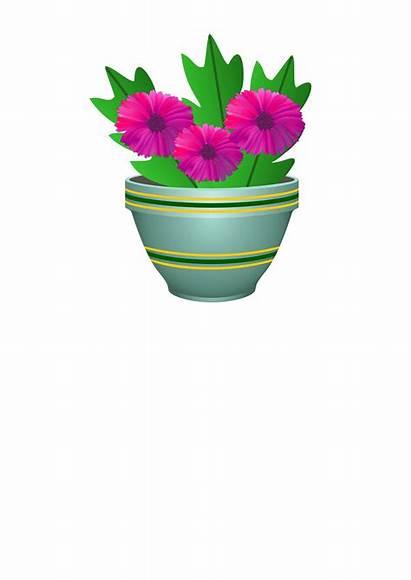 Pot Flower Clipart Purple Svg Clip Coloring
