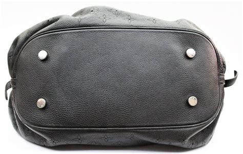 louis vuitton black monogram mahina leather  bag  stdibs