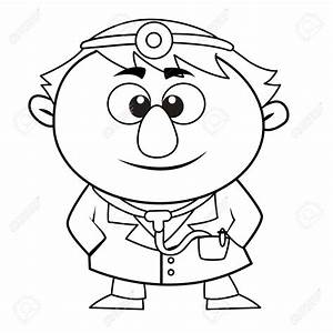 Kid Doctor Clipart Black and White Royalty Free Rf Kid