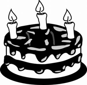 Birthday Cake Clip Art Black And White - ClipArt Best