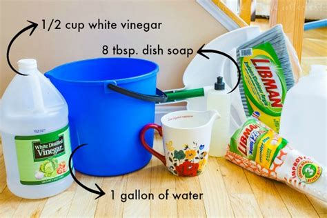 homemade wood floor cleaner  spring cleaning home