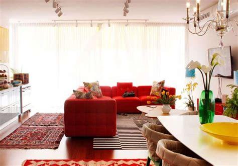 decorating ideas   red sofa wearefound home design