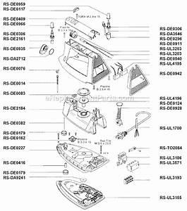 Rowenta De48 4c Parts List And Diagram   Ereplacementparts Com