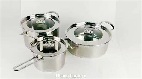 cooking pot unique european stainless steel cookware pan kitchenware induction 3pcs alibaba 6pcs
