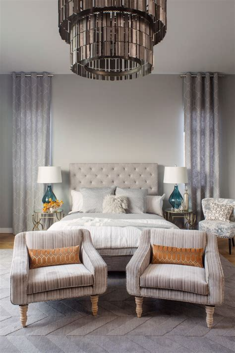 pretty tufted headboard king  bedroom contemporary
