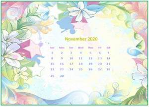 Monthly 2020 Desktop Calendar Wallpapers
