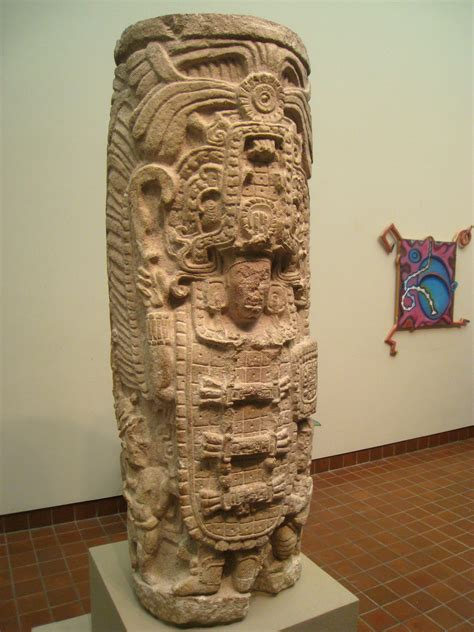 File:Carved Column (Warrior with Two Dwarf Attendants ...