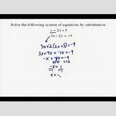 A174 Solving A System Of Equations By Substitution Youtube
